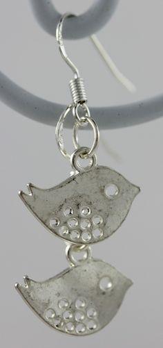 Boucles d'oreilles, crochet argent 925, breloque oiseaux : Boucles d'oreille par mado-lyne-s
