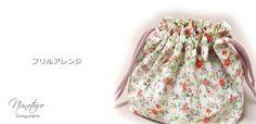 お弁当袋の作り方 フリルアレンジ - NUNOTOIRO Fabric Bags, Floral, Handmade, Fashion, Japanese Language, Moda, Canvas Bags, Hand Made, Fashion Styles
