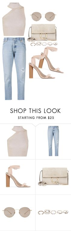 """""""Untitled #4917"""" by lilaclynn ❤ liked on Polyvore featuring Cushnie Et Ochs, RE/DONE, Public Desire, Chloé, Gucci, GUESS, gucci and chloe"""