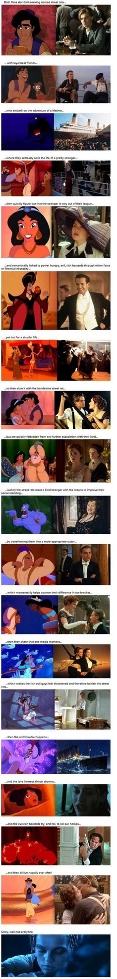 Aladdin Vs Titanic - Meme Picture.  Wow, the similarities....