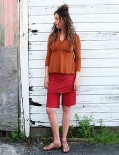 "Gaia Conceptions - Simplicity Mini Skirted 12"" Bermuda Shorts, $75.00 (http://www.gaiaconceptions.com/simplicity-mini-skirted-12-bermuda-shorts/)"