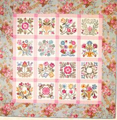Flowers From My Garden - applique and pieced quilt PATTERN- Lori Smith