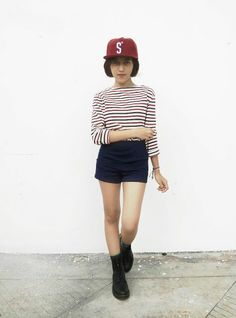 When in doubt. Wear red. #drmartens #hotpants #boots #cap #fashion #outfit