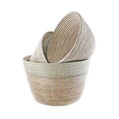 Deep V Nesting Baskets - White – connectedgoods.com