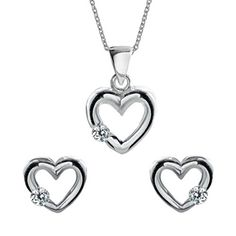 Silverly Womens 925 Sterling Silver CZ 46cm Chain Necklace Stud Earrings Set *** Read more reviews of the product by visiting the link on the image.(This is an Amazon affiliate link)
