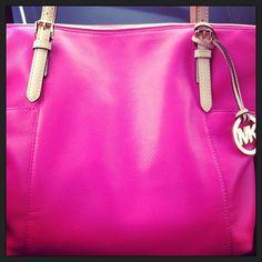MK hot pink tote