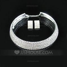 Jewelry - $21.99 - Shining Alloy With Rhinestone Ladies' Jewelry Sets (011028971) http://jjshouse.com/Shining-Alloy-With-Rhinestone-Ladies-Jewelry-Sets-011028971-g28971