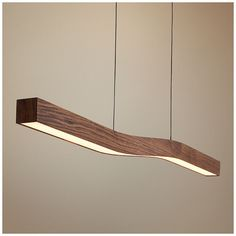 Cerno& Camur LED island pendant is dimmable, made in the USA, and has a frosted polymer shade and dark stained walnut finish. Interior Lighting, Home Lighting, Chandelier Lighting, Modern Lighting, Lighting Design, Pendant Chandelier, Blitz Design, Diy Luminaire, Kitchen Island Lighting