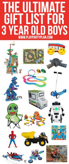 The Ultimate List Of Gift Ideas For A 3 Year Old Boy Everything From Superhero