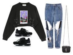 """""""Untitled #810"""" by ariannastradlin ❤ liked on Polyvore featuring Glamorous and Yves Saint Laurent"""