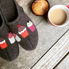 Haflinger pure wool cupcake slippers, ideal for around the house – @Shoegarden