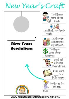 Easy New Year's Resolution Craft for Kids