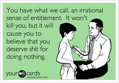 Overblown sense of entitlement. That is what is wrong with our country.