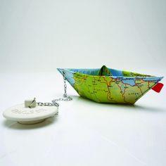 Badewannenstöpsel Papierschiff