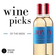 Get them here: http://wsah.co/bMF0m  Add some Joy to the #holidays! Joy Cellars 2015 #Muscat of Alexandria for those who like their wines on the sweet side, and the Joy Cellars 2015 #Sauv Blanc, crisp, refreshing and classic.