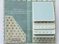 CTMH Mini Folio Album - inside, by Patricia Manhire Mini Album Scrapbook, Scrapbook Bebe, Scrapbooking Album, Scrapbook Pages, Mini Albums Photo, Mini Album Tutorial, Handmade Books, Handmade Journals, Handmade Rugs