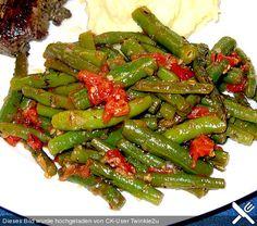 Grüne Bohnen mit Tomaten und Balsamico