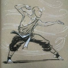 "jciolli: Aang #inktober #aang #avatar """
