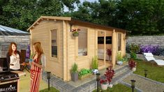 BillyOh Dorset Log Cabin - Summerhouses - Garden Buildings Direct