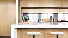 sleek and streamlined kitchen