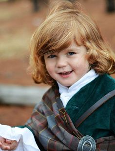 """A picture of Andrea Whitrow's son Oliver dressed as Jamie (Sam Heughan) from the Starz TV series """"Outlander.""""  Andrea Whitrow"""