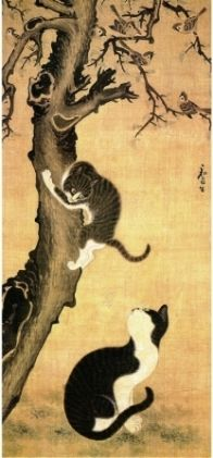 韓国ドラマ「チャングムの誓い」の中で、チャングムの部屋に飾られていた猫の掛け軸が気になって調べたら、ピョン・サンビョクの『猫雀図』とのこと。