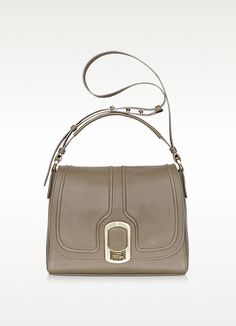 Fendi Anna Leather Flap Shoulder Bag