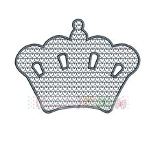 Embossed Motive Princess Crown Digital by ButterflyStitchesemb