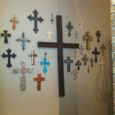 I want my own wall of crosses in my house someday