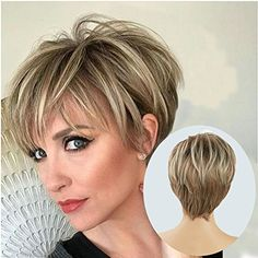 Vivacious Hair and Wigs Belle Coiffure, Coiffure Courte, Coiffure  Maquillage, Coiffure Cheveux Courts