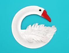 Paper Plate Swan Art