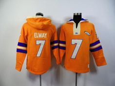 Men s NFL Denver Broncos  7 John Elway Orange 2015 New Hoodies Any  Questions 009960875