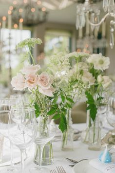 Flower Arrangements of Roses and Carnations for Nautical Wedding Beach Wedding Centerpieces, Floral Centerpieces, Reception Decorations, Flower Centrepieces, Table Flowers, Centerpiece Ideas, Beautiful Flower Arrangements, Wedding Flower Arrangements, Beautiful Flowers