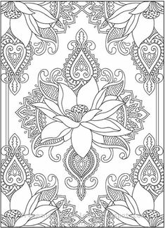 New Coloring Books for Adults Luxury Wel E to Dover Publications Creative Haven Magnificent Mehndi Designs Coloring Book Adult Coloring Pages, Colouring Pages, Printable Coloring Pages, Coloring Sheets, Coloring Books, Coloring Pages For Grown Ups, Mandalas Drawing, Mandala Art, Zentangles