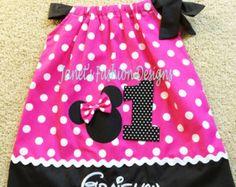 Minnie Mouse Pillowcase Dress Minnie by JanetsFashionDesigns & Minnie Mouse Pillowcase Dress / Pink Dots + Bk Micro Dots ... pillowsntoast.com