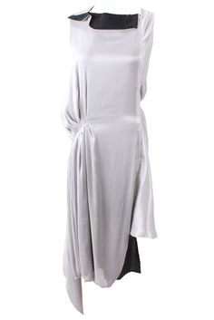 Layered Asymmetrical Dress in Silver