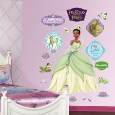Princess and the Frog Fathead, Multicolor
