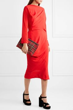 Vivienne Westwood Anglomania. New Fond asymmetric draped voile midi dress.