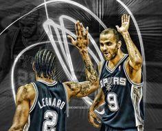 Spurs Kawhi Leonard & Tony Parker