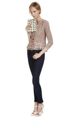 Metallic Trim Crochet Jacket by Oscar de la Renta Now Available on Moda Operandi