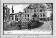Hotel de Ville 1902 et statue de John Cokerill
