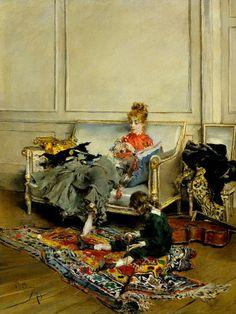 Giovanni Boldini, Peaceful Days, 1871.