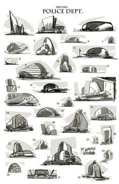Enjoy a collection of early Concept Art for Disney Zootopia, by Art Director Matthias Lechner . In a city of anthropomorphic animals, a rookie bunny Plan Concept Architecture, Sketchbook Architecture, Form Architecture, Architecture Model Making, Organic Architecture, Futuristic Architecture, Conceptual Architecture, Zootopia Concept Art, Zootopia Art