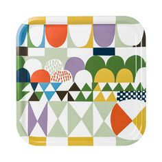 ALMEDAHLS. Tray with the iconic BOWS pattern by Josef Frank, designed in the 1920/30's. Size 32 x 32 cm. Wood, dishwasher-safe.