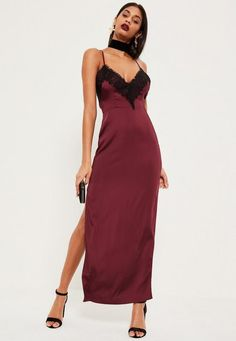 Reel in the dramatic vibes and slip into this nightwear-esque maxi dress  for a