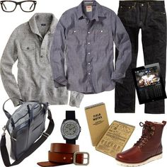 GARB: WORKING ON THE WEEKEND Comfy and casual is the name of the game when youre called into the office on Sundays. And regardless of the deadline, youre not in the business of missing a #Work Outfits for Men| http://work-outfits-for-men.lemoncoin.org