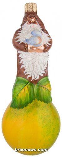 Poire Noel from Patricia Breen Designs (Birds, Brown, Green, Partridge & Pear, Yellow, Santa)