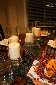 Simple and cheap holiday table setting using Dollar Tree items  Autum