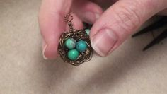 How to Make a Wire Bird's Nest Pendant - Video Dailymotion