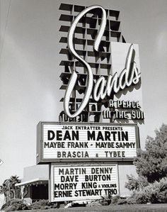 Sands, Las Vegas.   Remember going with my parents seeing Las Vegas in those days was quite the treat